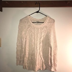 Lucky Brand tan Woman's Large sweater